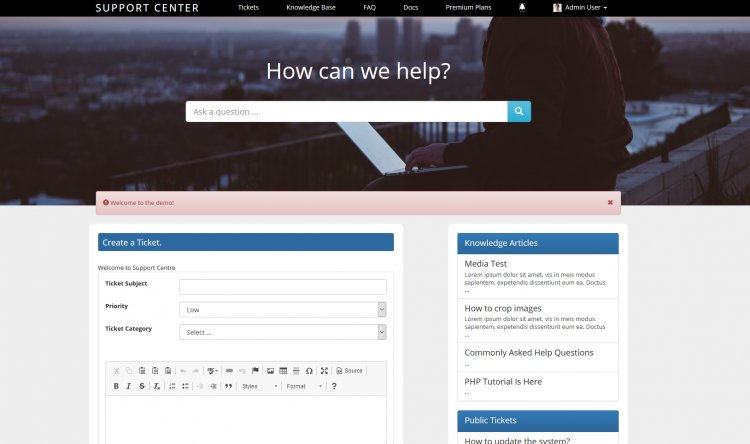 Support Centre - Advanced PHP Ticket System Nulled Free