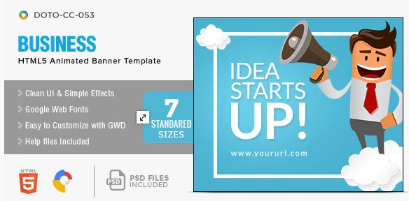 Business HTML5 Banners Free