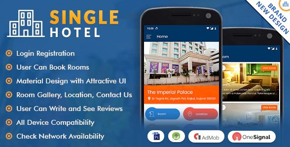 Single Hotel App with Material Design nulled