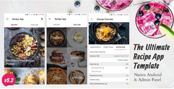 Ultimate Recipe App Template Nulled