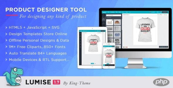 Lumise Product Designer Tool v1.7.3