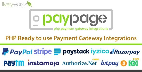 PayPage - PHP ready to use Payment Gateway Integrations Nulled