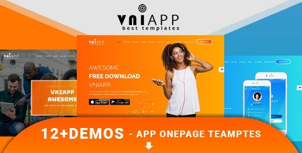 VniApp - Showcase Mobile App HTML Template Nulled