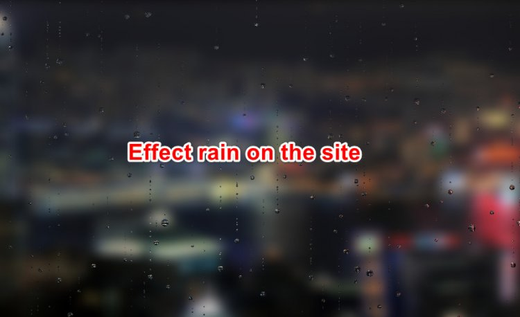Effect rain on the site for jquery