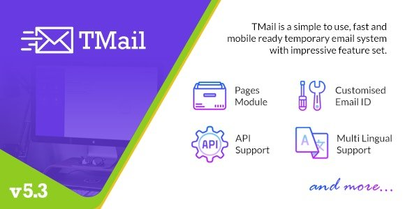 TMail v5.6 - Multi Domain Temporary Email System Nulled
