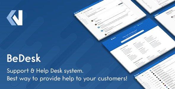 BeDesk v1.2.5 - Customer Support Software & Helpdesk Ticketing System Nulled