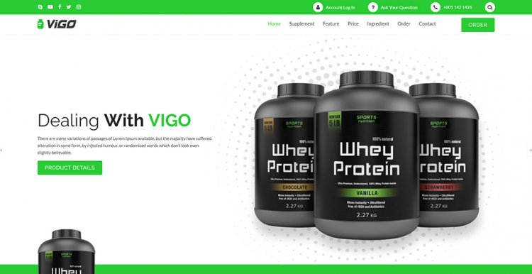VIGO – Single Product Supplement HTML templates nulled