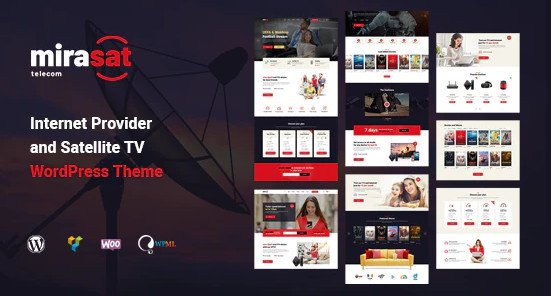 Mirasat v1.0.3 - Internet Provider and Satellite TV WordPress Theme Nulled