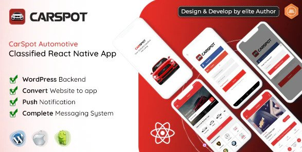 CarSpot – Dealership Classified React Native App Nulled