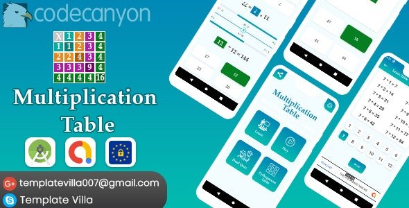 Multiplication Table, Learn and Play v1.0 Nulled
