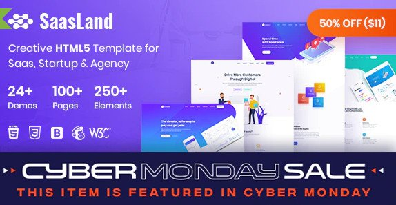 SaasLand - Creative HTML5 Template for Saas, Startup & Agency Nulled
