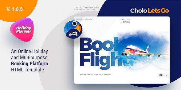 Cholo   A Online Holiday And Multipurpose Booking Platform HTML Template Free