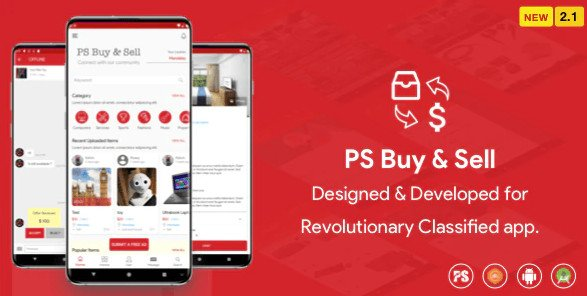 PS BuySell ( Olx, Mercari, Offerup, Carousell, Buy Sell ) Clone Classified App v2.9 Free