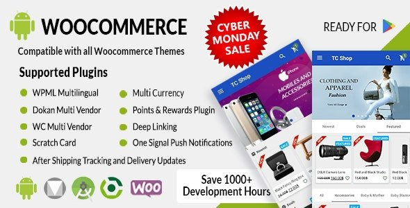 Android Woocommerce - Universal Native Android Ecommerce 1.9.3 Free