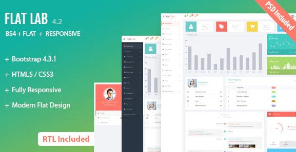 FlatLab - Bootstrap 4 Responsive Admin Template HTML FREE