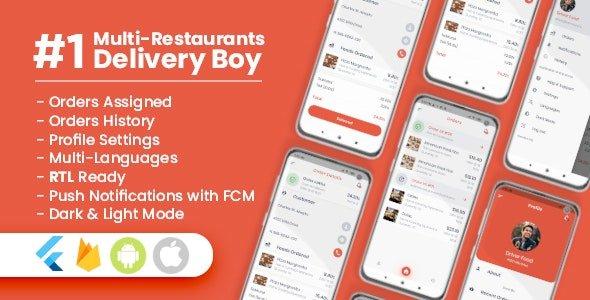 Delivery Boy For Multi-Restaurants Flutter App V1.0.0 Nulled