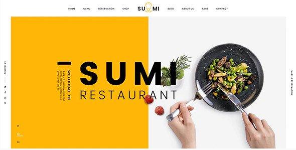 Sumi Restaurant HTML Template Free