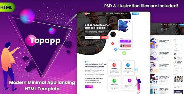 Topapp - App Landing Page Free