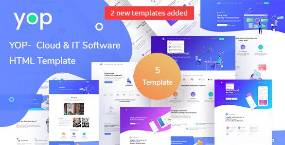 YOP - Cloud HTML Template Free