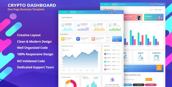 TokenMe - Crypto Dashboard & ICO Admin Template Free