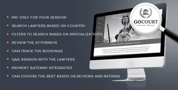 Online Lawyer Booking Solutions - GOCOURT Nulled