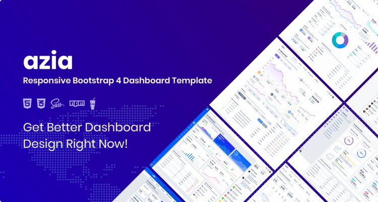 Azia Premium Bootstrap 4 Admin Dashboard HTML Templates RIP (Nulled)