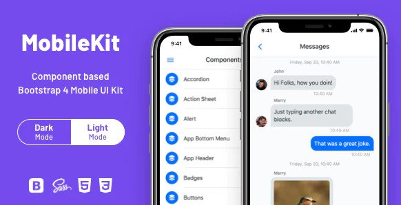 Mobilekit - Bootstrap 4 HTML Application Template v2.2.1 RIP (Nulled)