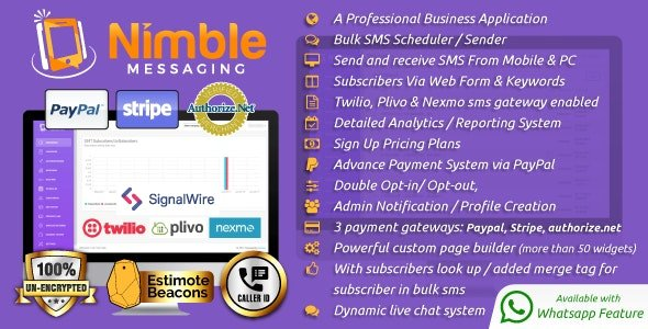 Nimble Messaging Professional SMS Marketing Application For Business Nulled