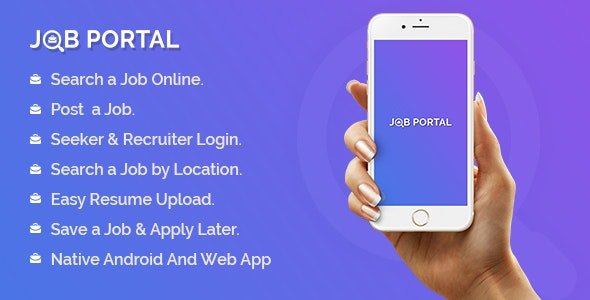 Job Portal Mobile Application With Web Portal Nulled