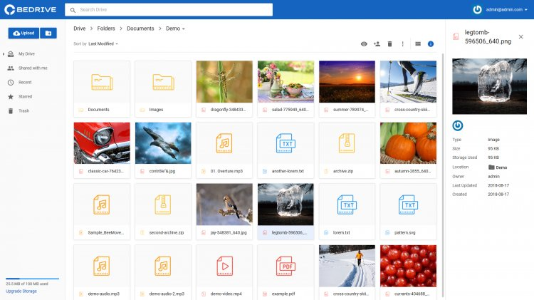 BeDrive - облачное хранилище Бесплатно