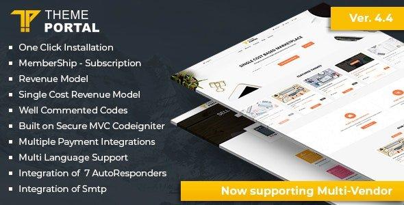 Theme Portal Marketplace - онлайн магазин цифровых товаров. Темы, Плагины, Скрипты