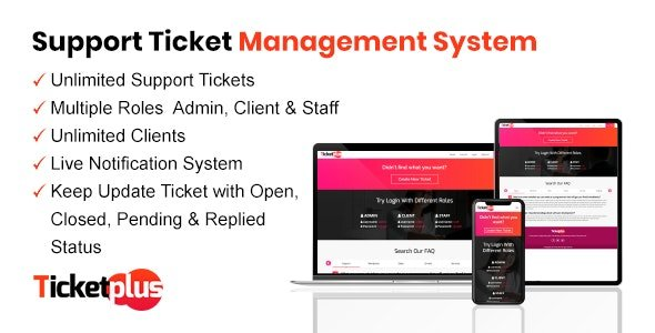 TicketPlus - Support Ticket Management System Nulled