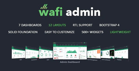 Wafi - Responsive Admin Dashboard Template RIP (Nulled)