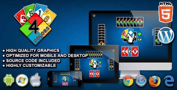 Four Colors - HTML5 Card Game Nulled