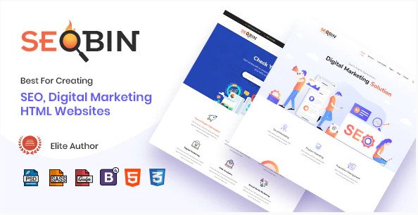 SeoBin | Digital Marketing Agency and SEO HTML Template RIP Nulled