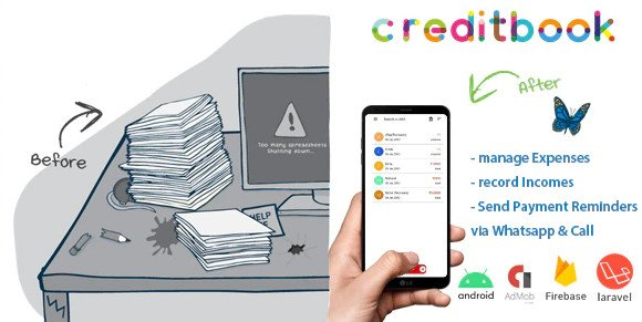 CreditBook | Start Online Credit Android App | PHP Backend Nulled
