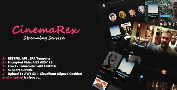 CinemaRex - Streaming Service Nulled