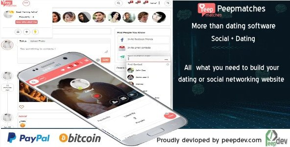 Peepmatches - The ultimate php dating and social script Nulled