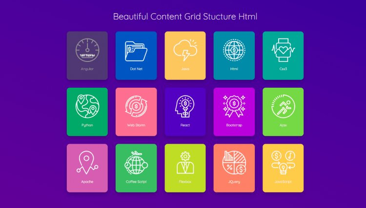 Beautiful Content Grid css html