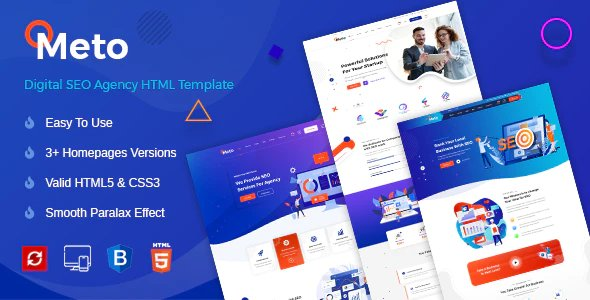 Meto | Digital Marketing Template