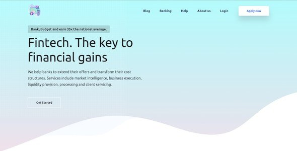 Fintech - Financial solution platform Nulled