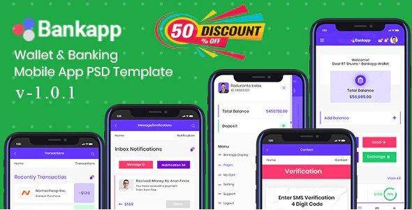 Bankapp - Wallet & Banking HTML Mobile Template