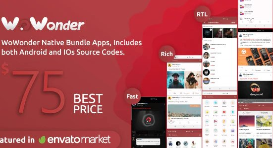 Mobile Native Social Timeline Applications - For WoWonder Social PHP Script v3.5
