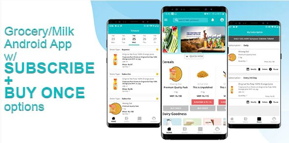 Grocery & Daily Needs Delivery Android App - Milkbasket Clone with Subscription Option & PHP Backend v1.0