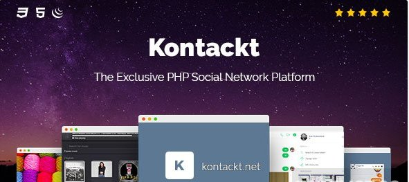 Kontackt - The Exclusive PHP Social Network Platform v1.19  Nulled