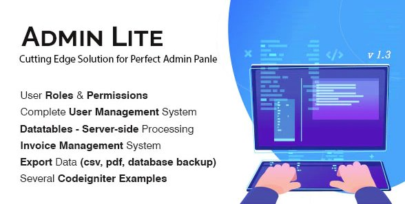 Admin Lite - PHP Admin Panel + User Management v1.5 Nulled