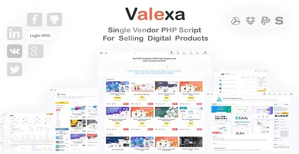 Valexa v2.0.1 - PHP Script For Selling Digital Products Nulled