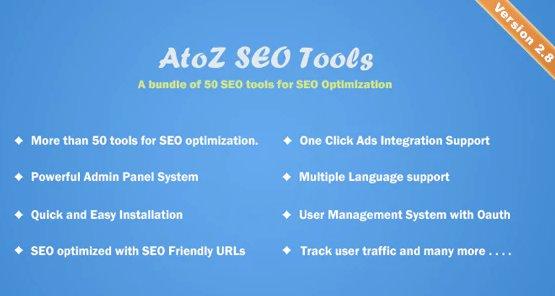 AtoZ SEO Tools - Search Engine Optimization Tools v2.9