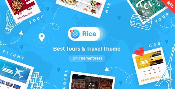 Travel , Tours , Flights, Cab Booking , Hotels & Restaurants Site HTML Template