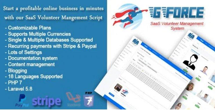 SaaS Volunter Management System - GForce v1.0
